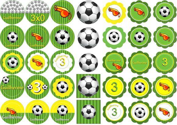 Tags para decoração de festa infantil. Tema Futebol. | Mover Miguel ...