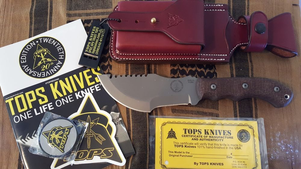 New Tops Knives 20th Anniversary Edition Tom Brown Tracker 3 Plus Extras Tops Knives 20th Anniversary Anniversary