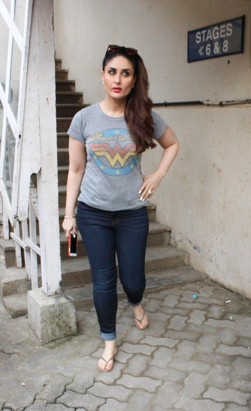 Bollywood actress Kareena Kapoor Khan spotted at the Mehboob Studio on 04th July 2017. | Fashion ...