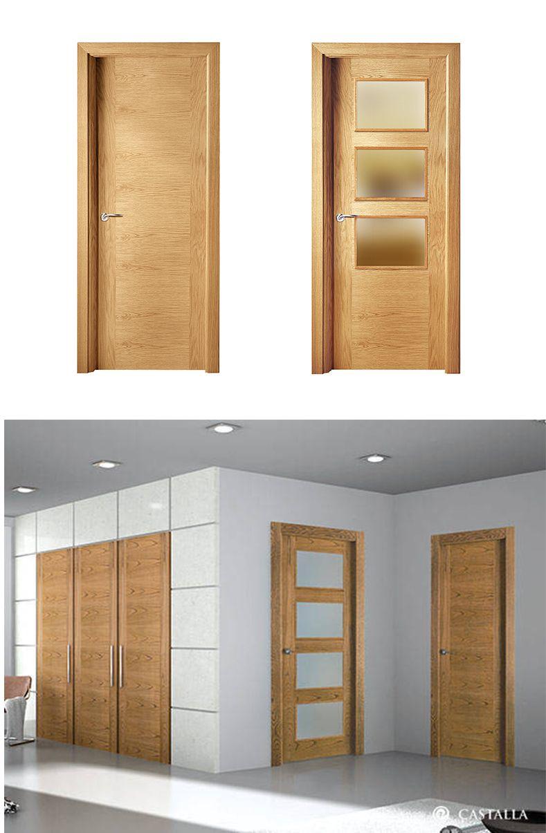 Puerta de interior clara modelo viena de la serie lisa for Puertas castalla