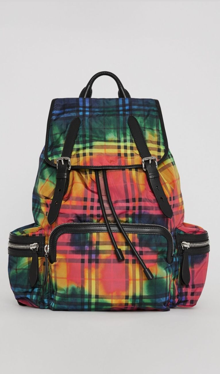 The Large Rucksack In Tie Dye Vintage Check Burberry Bags