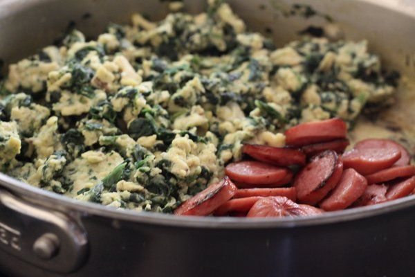 Green eggs and ham from @foodlets #greeneggsandhamrecipe