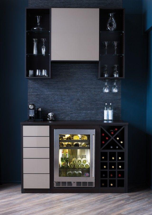 Wine Fridge Ideas California Closets   Wine And Coffee Bar Built Around Wine  Fridge
