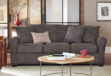 Photo Of Ultimate Heavyweight Stretch Leather Separate Seat 3 Piece Sofa  Slipcover