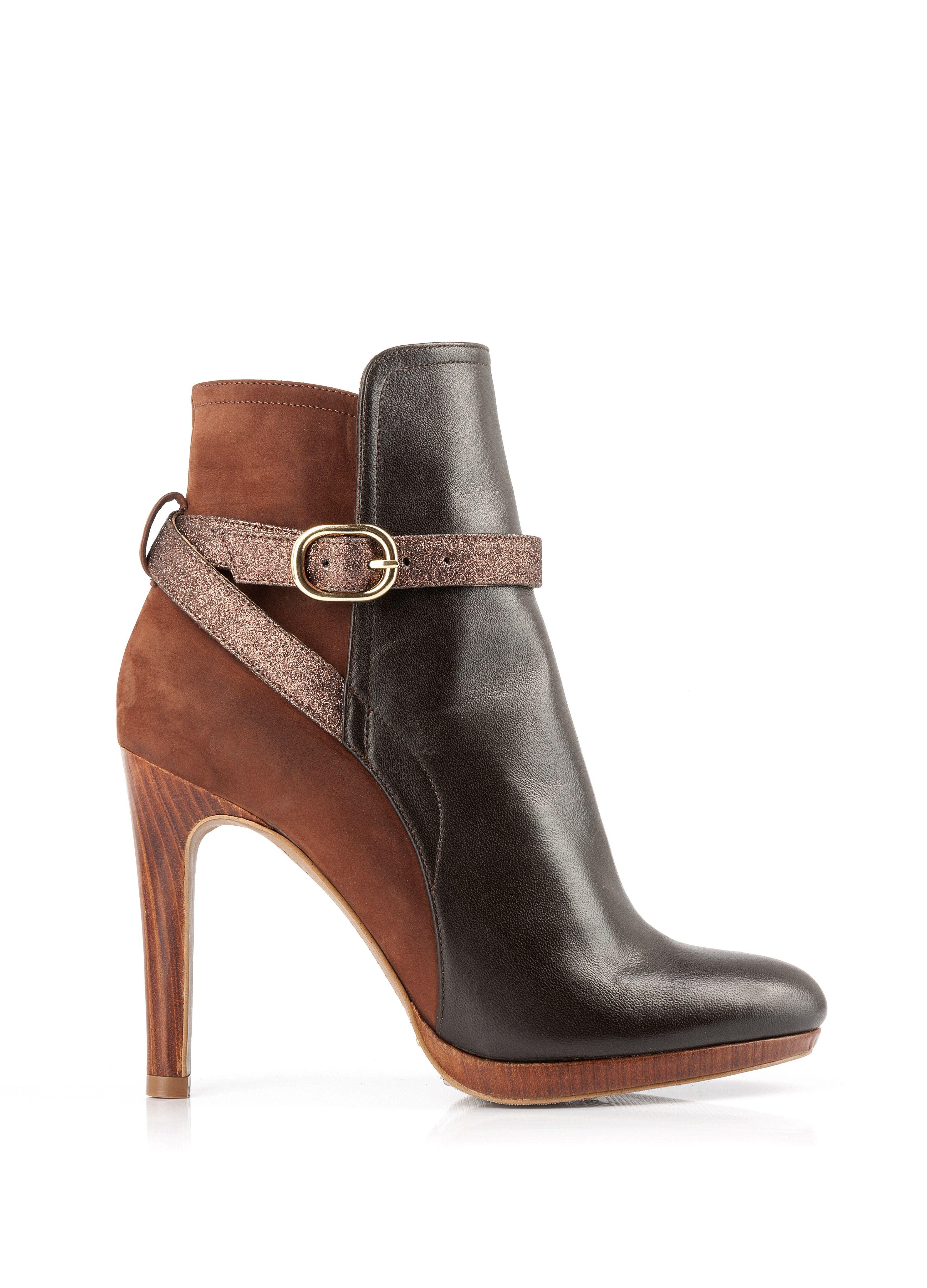 bottine talon trust marron bottines talon chaussures femme femme shoes. Black Bedroom Furniture Sets. Home Design Ideas