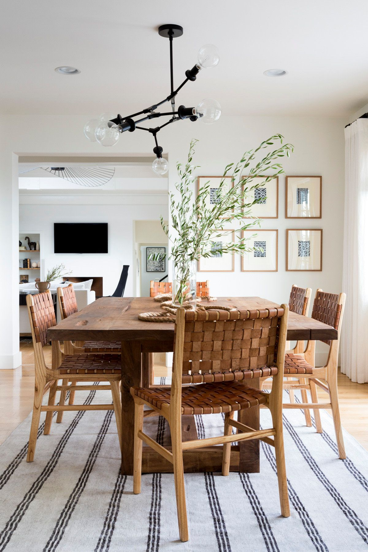 How A Young Couple Infused Their Colorful Personalities Into A Neutral La Home Modern Dining Room Dining Room Design Dining Room Inspiration