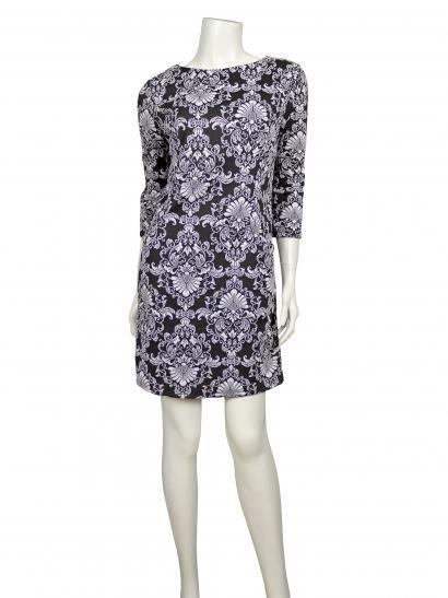 Jersey Tunika Kleid Schwarz Weiss Jersey Kleider Pinterest