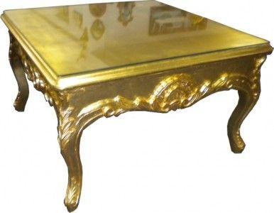 Holztisch wohnzimmer ~ Casa padrino barock beistelltisch gold couch tisch wohnzimmer
