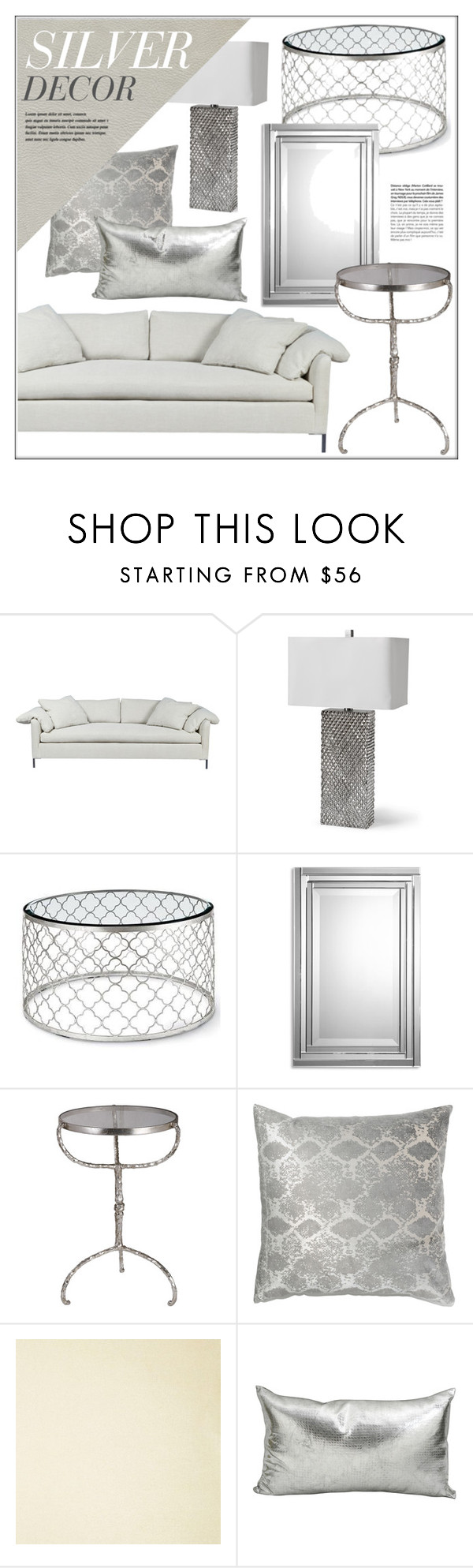 "silver home decor""kathykuohome ❤ liked on polyvore featuring"