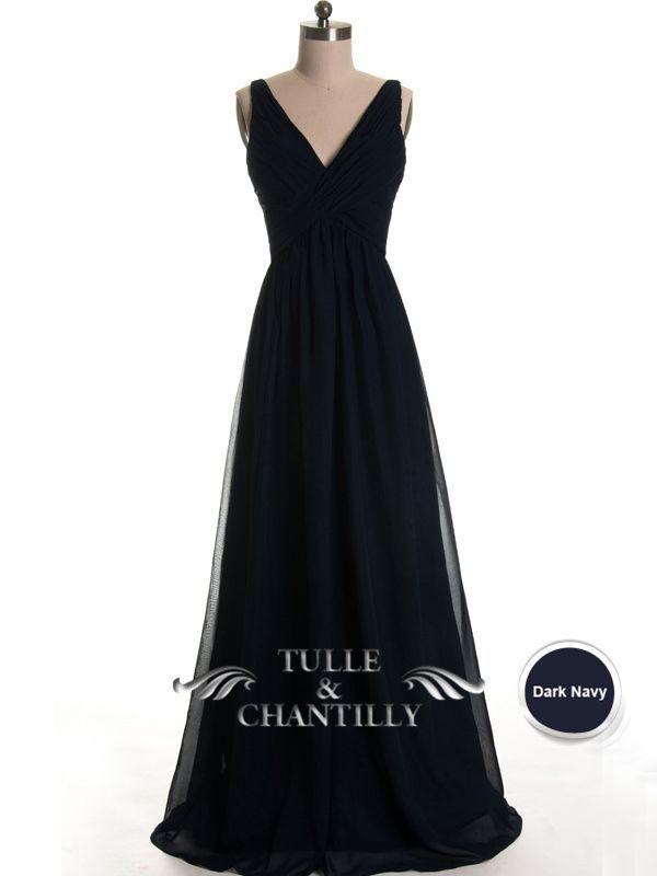 e124e205c9c Simple Flowy Pleated V-neck Bridesmaid Dress TBQP099