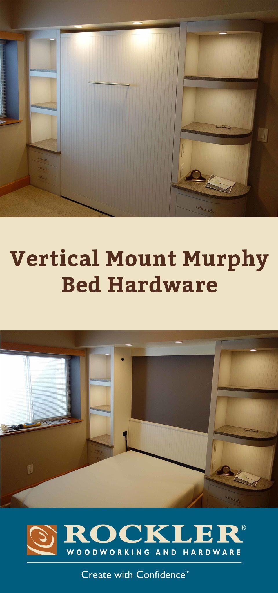 Vertical Mount Murphy Bed Hardware  A Fold Down Bed