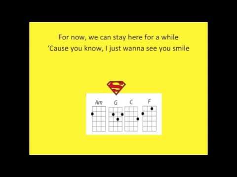 One Call Away For Ukulele Play Along With Chords Key Of C