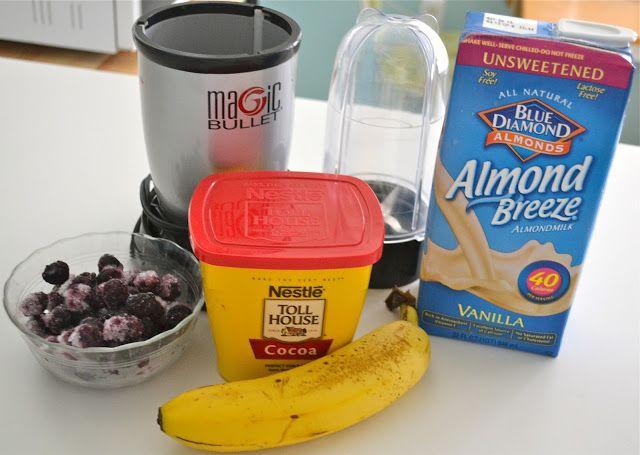 love lola: Chocolate, Banana, Blueberry Smoothie