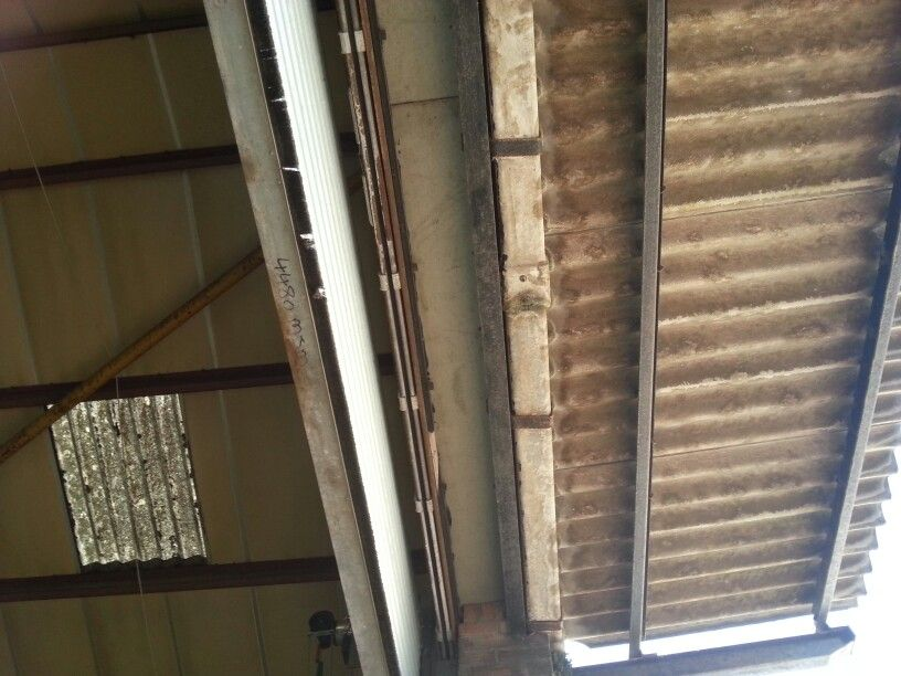 Asbestos Cement Canopy With Asbestos Insulating Board Aib Strip To The Top Of The Opening Cardiff Uk Cardiff Uk Old Ads Canopy