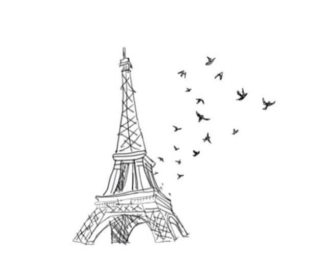 easy eiffel tower silhouette sketches - Google Search ...