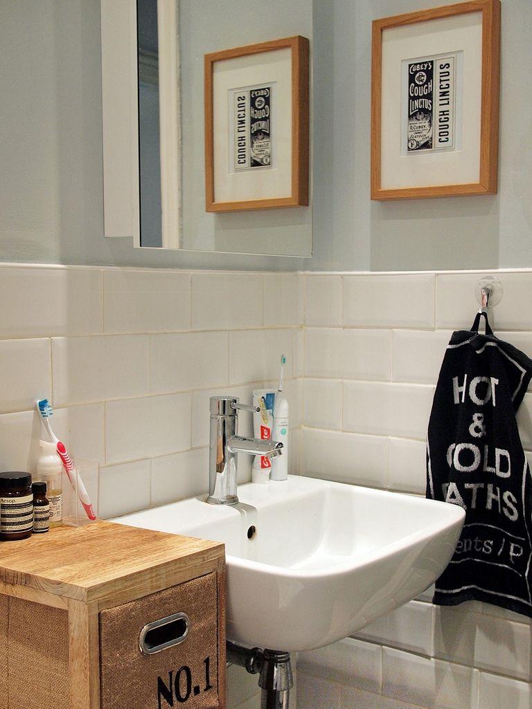 bathroom   worktop offcuts, farrow ball and bhs