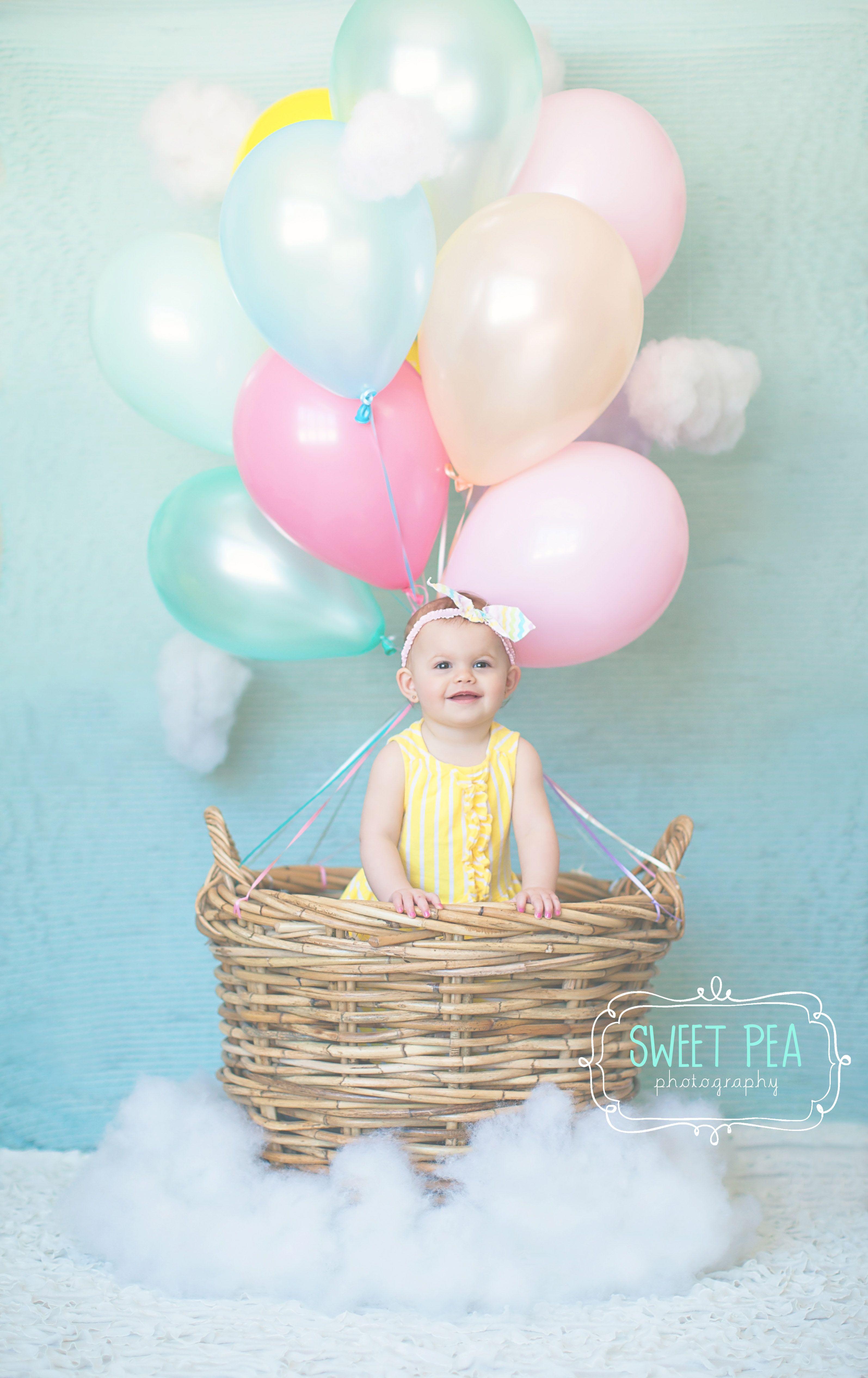 Hot Air Balloon, 1st Birthday, Sweet Pea Photography