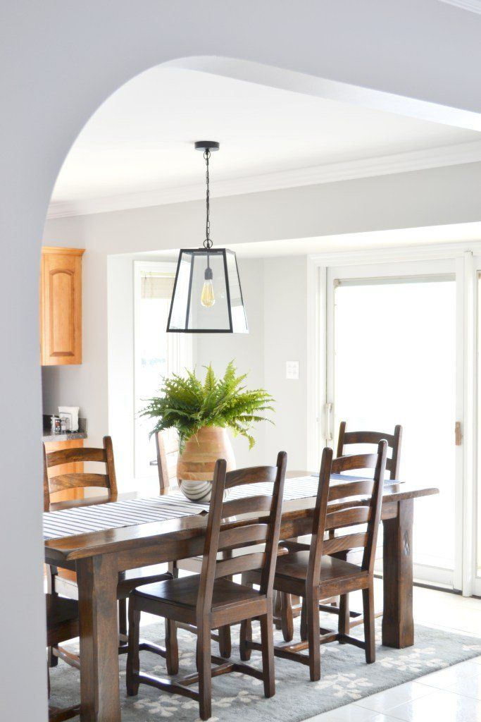 Mary From Thecofranhome Updated Her Home Using Light French Gray SW 0055 For Dining Room And