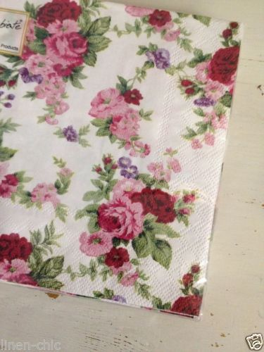 Vintage Rose Design Paper Napkins Decoupage Shabby Chic