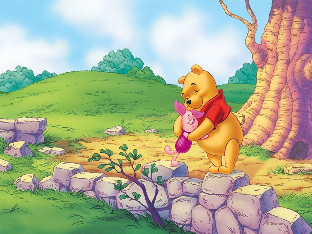Winnie The Pooh Wallpaper HD Pig Friends Background For