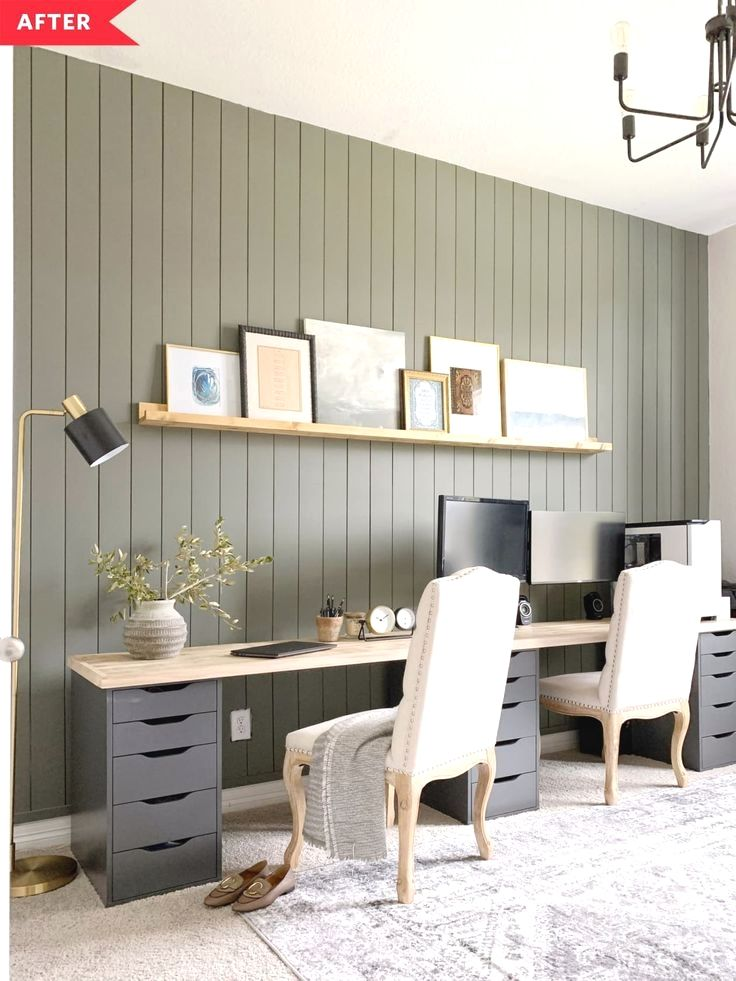 Before And After A Smart Ikea Hack Makes This Home Office Extra Practical In 2020 Ikea Home Office Ikea Home Ikea Desk Hack