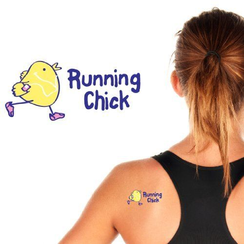 """Running Tattoos Running Chick Temporary Running Tattoos - set of 4 SportTATS by Gone for a RUN. $9.98. Easy to apply. 2"""" X 3"""". Four Temporary Tattoos. FDA approved. Get motivated and have some fun with RunningTATS, temporary tattoos for runners. It's a great way to motivate before or during a race. Just apply for spirited fun! Are temporary tattoos safe for application to my skin? RunningTATS are safe and non-toxic. Every tattoo meets all U.S. and international regulatory requ..."""
