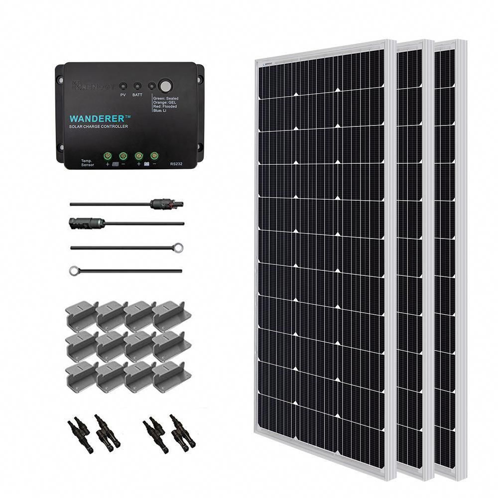 Renogy 300 Watt 12 Volt Monocrystalline Solar Starter Kit For Off Grid Solar System Solarpanels Solarenergy So In 2020 12v Solar Panel Solar Panels Solar Panel System