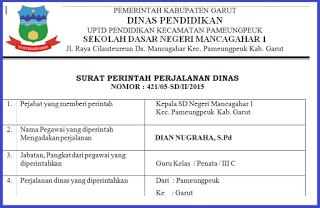 Contoh Surat Perintah Perjalanan Dinas Sppd Terbaru 2018 Surat