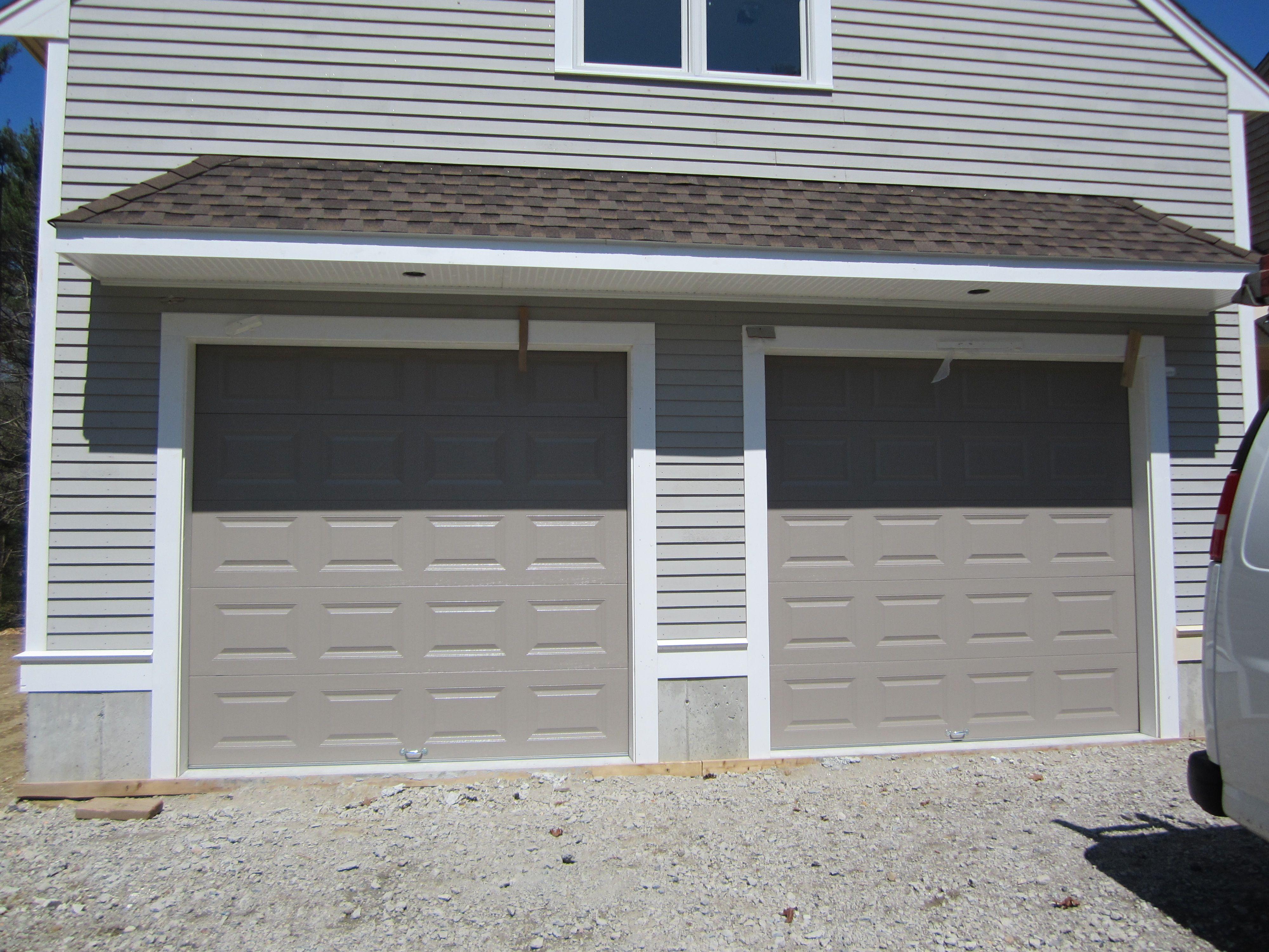 Haas model 680 Steel Raised Panel Doors in Sandstone Installed by
