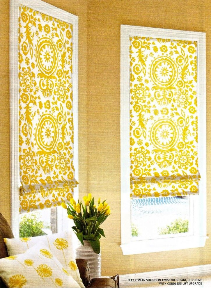 17 Appealing Yellow Roman Shades Pic Ideas