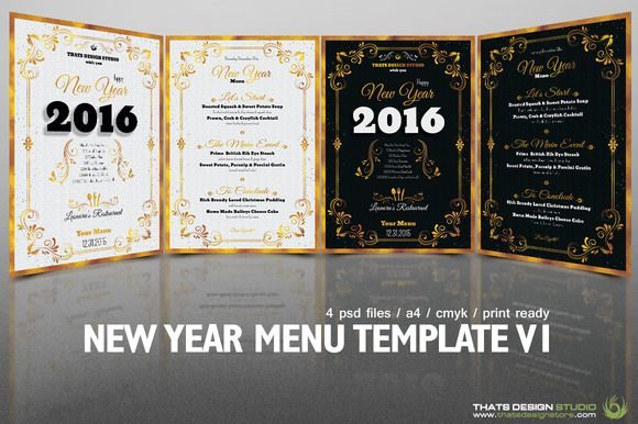 new year menu template v1 by thats design studio on creative market
