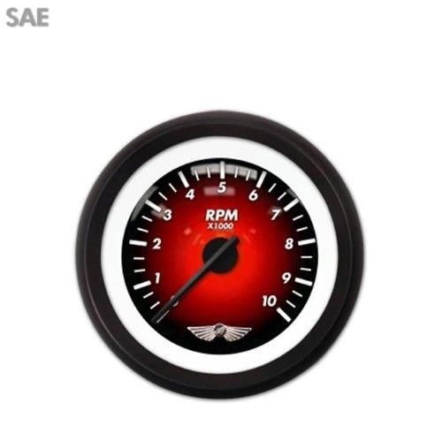 Aia Instruments Tachometer Gauge W Emblem Pulsar Red Black