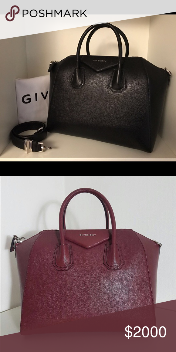 dc8a8532461 Givenchy Antigona medium 1 each Removeable strap medium have 1 black 1  burgundy 1 navy blue first come first serve this is the new model 1800 🅿  this bag ...