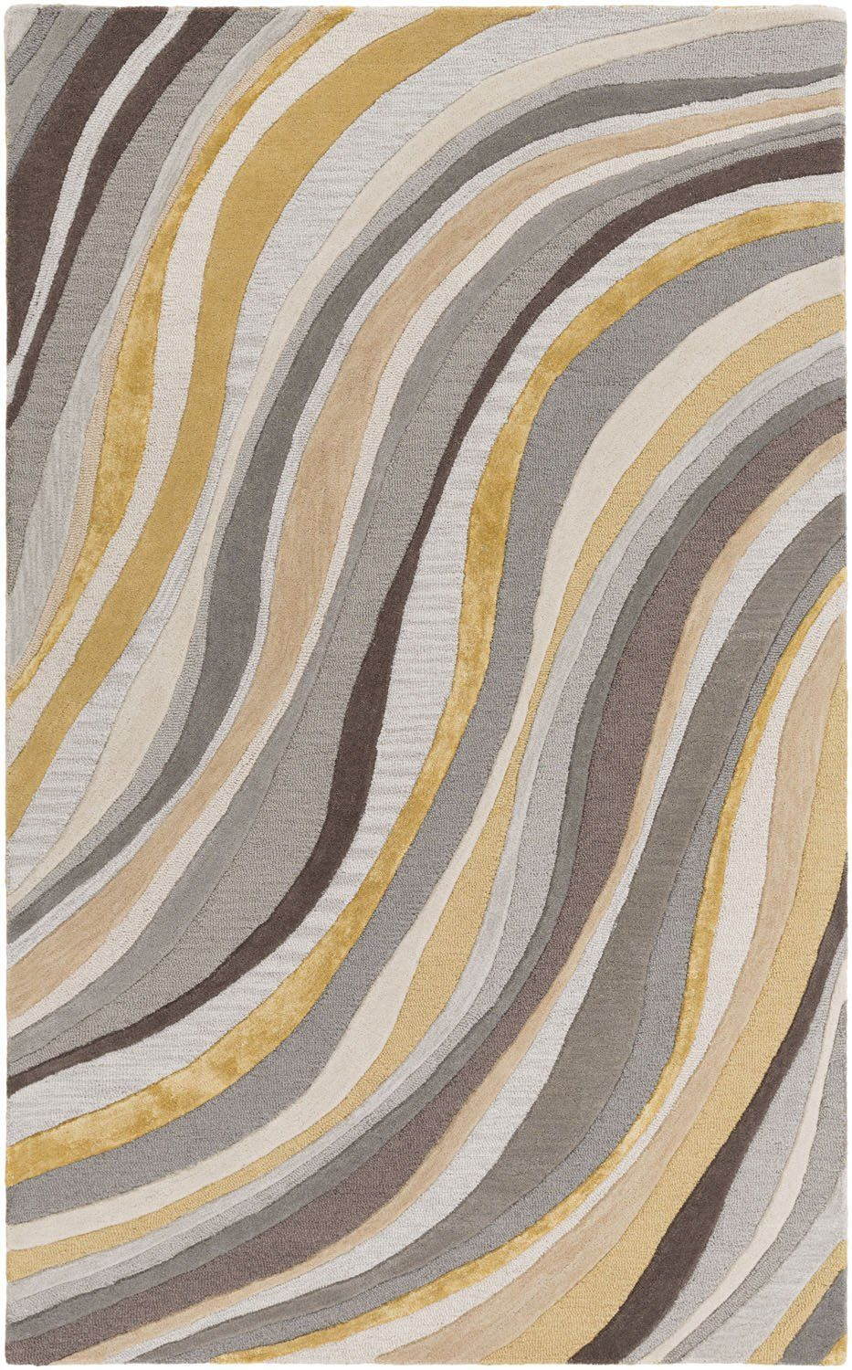 Lounge Lge 2291 Grey Gold Contemporary Rug Interior