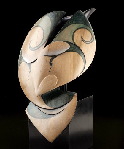 Raven Steals the Moon by Rex Homan, Māori artist (KRX111203)