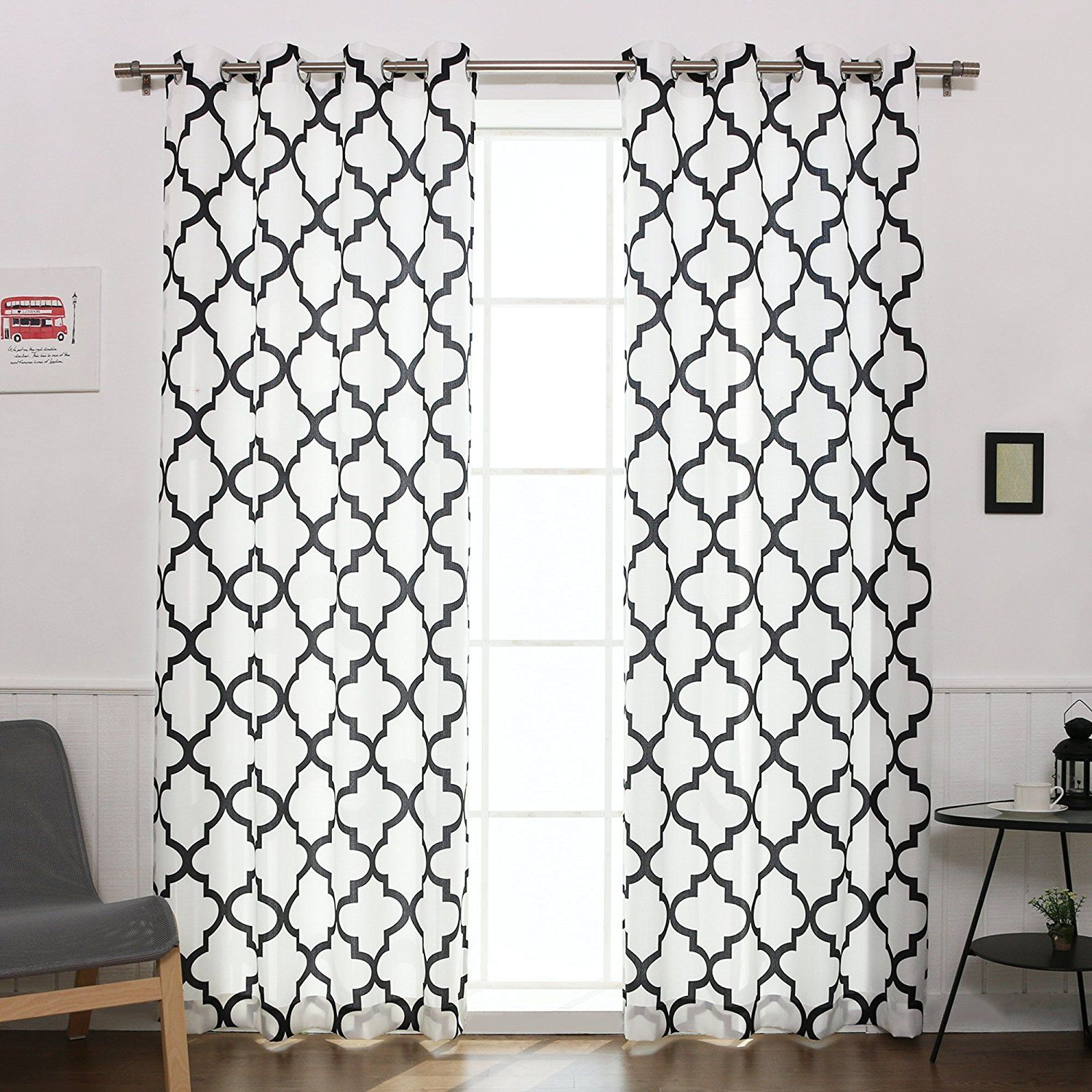 inches drapes with curtains full design stripe and white size unusual valanceblack of panel curtain long inchesblack black panels valance photos