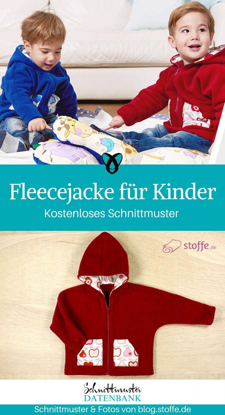 Fleecejacke mit Hoodie für Kinder #keinekleidungnähen