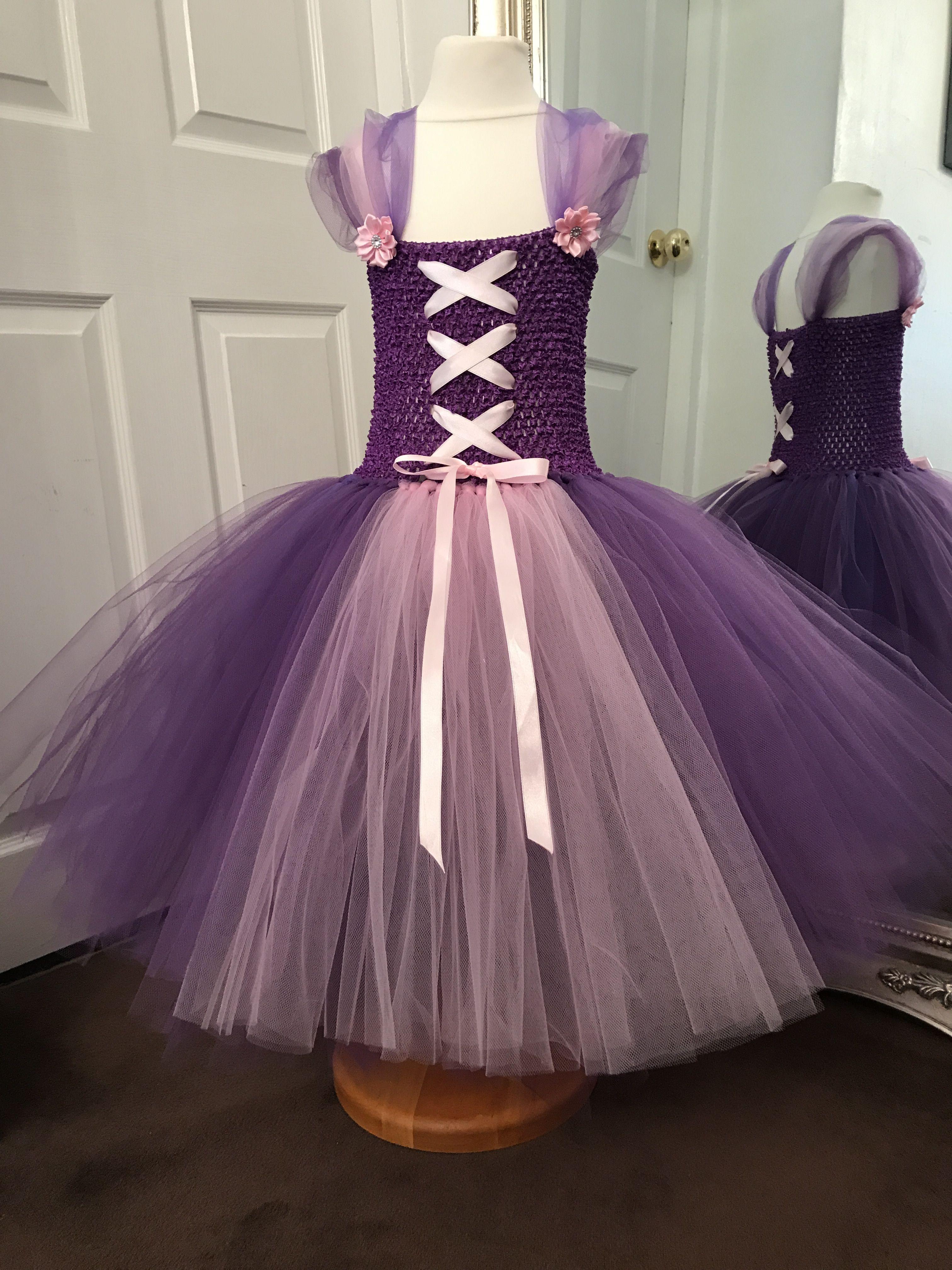 Rebunzel tulle dress crochet bodice age to order go to facebook