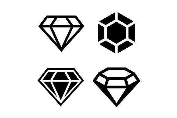 Diamond Icons Set Diamond Icon Icon Set Icon Design