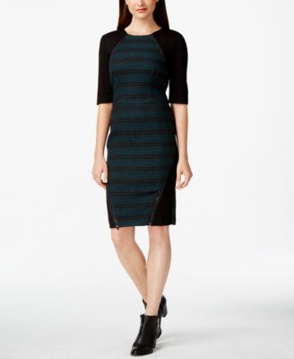 RACHEL Rachel Roy Mixed-Media Sheath Dress