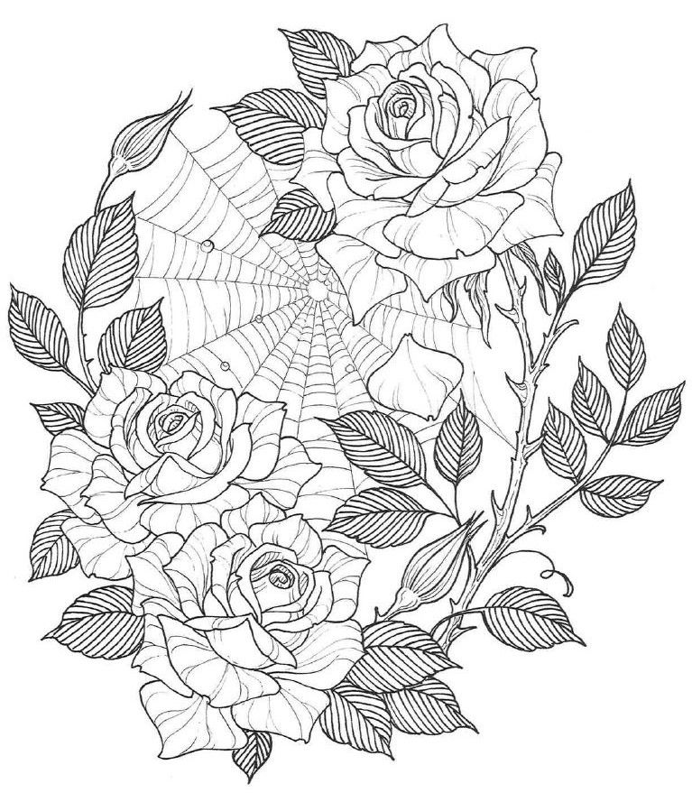 Веселый, картинки цветов красивые для печати карандашом