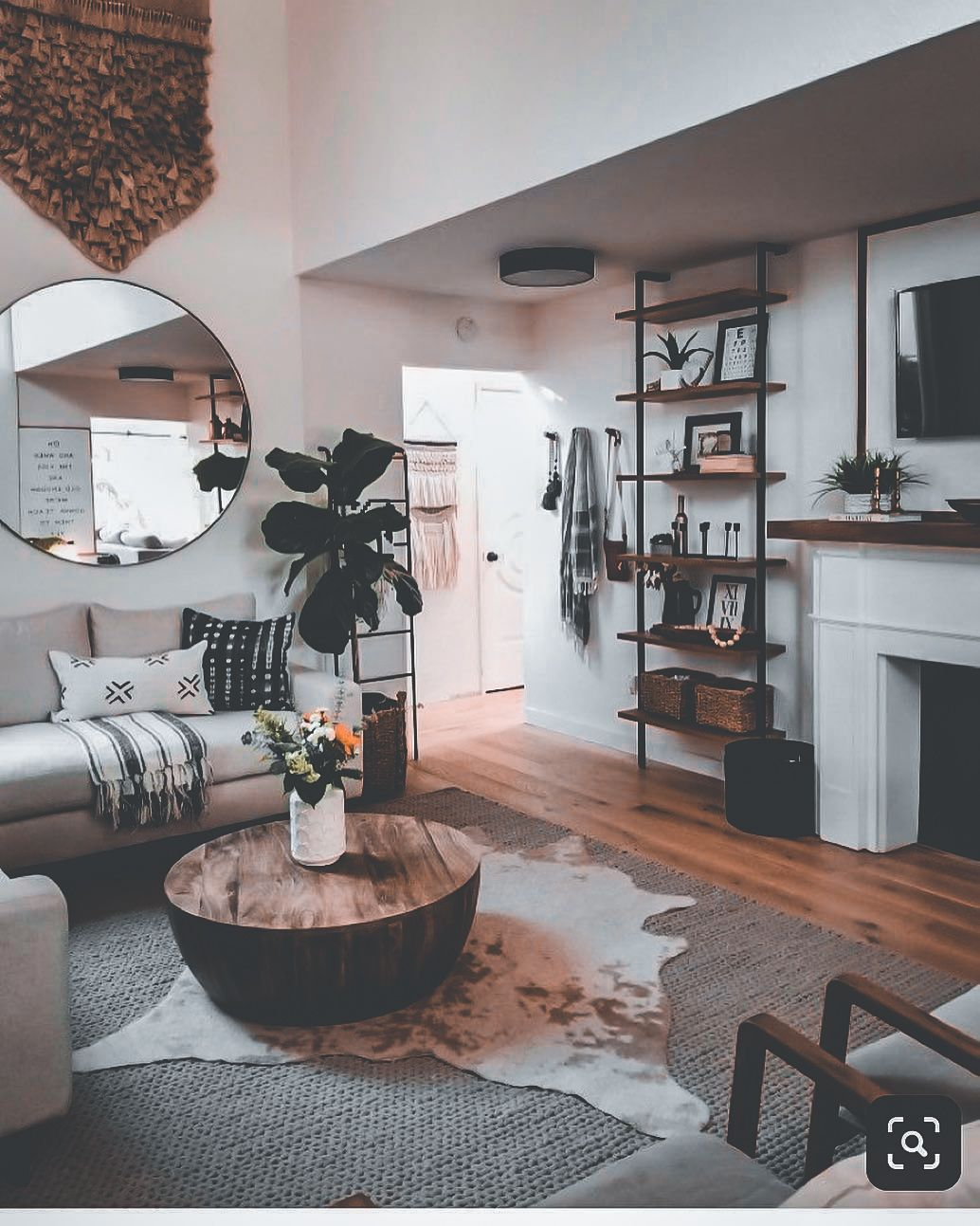 30 Living Rooms Adorned With Cowhide Rugs 2020 Rugs In Living Room Furniture Design Living Room Stylish Living Room