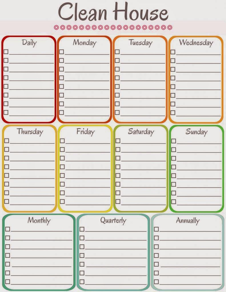 Amys Notebook 5 Printable Cleaning Schedules Organization Home