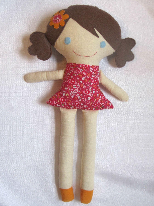 Sew cute! Custom Handmade Girl Cloth Doll. $38.00, via Etsy.