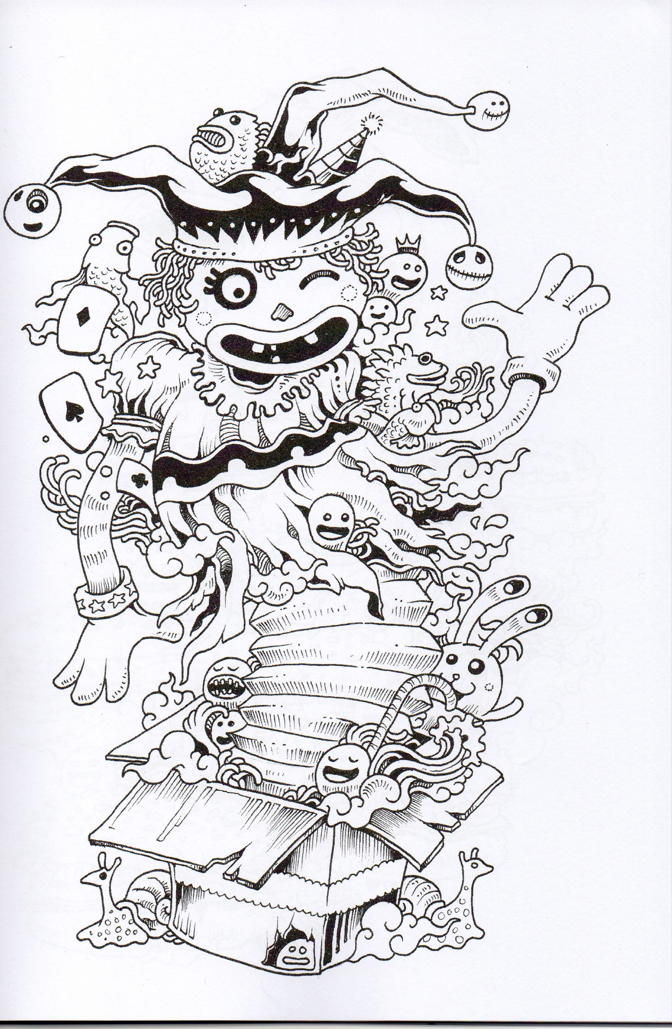 Doodle Invasion Coloring BookDoodle