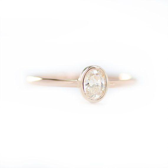 Oval Diamond Engagement Ring Oval Shape Diamond Ring Oval
