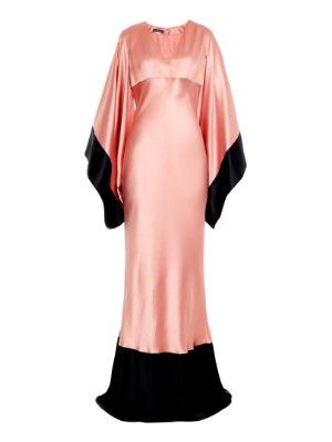 bf3fc6f72651ad Bi-colour kimono-sleeve silk-satin gown | Alexander McQueen |  MATCHESFASHION.COM AU I need this with every single fibre of my being.