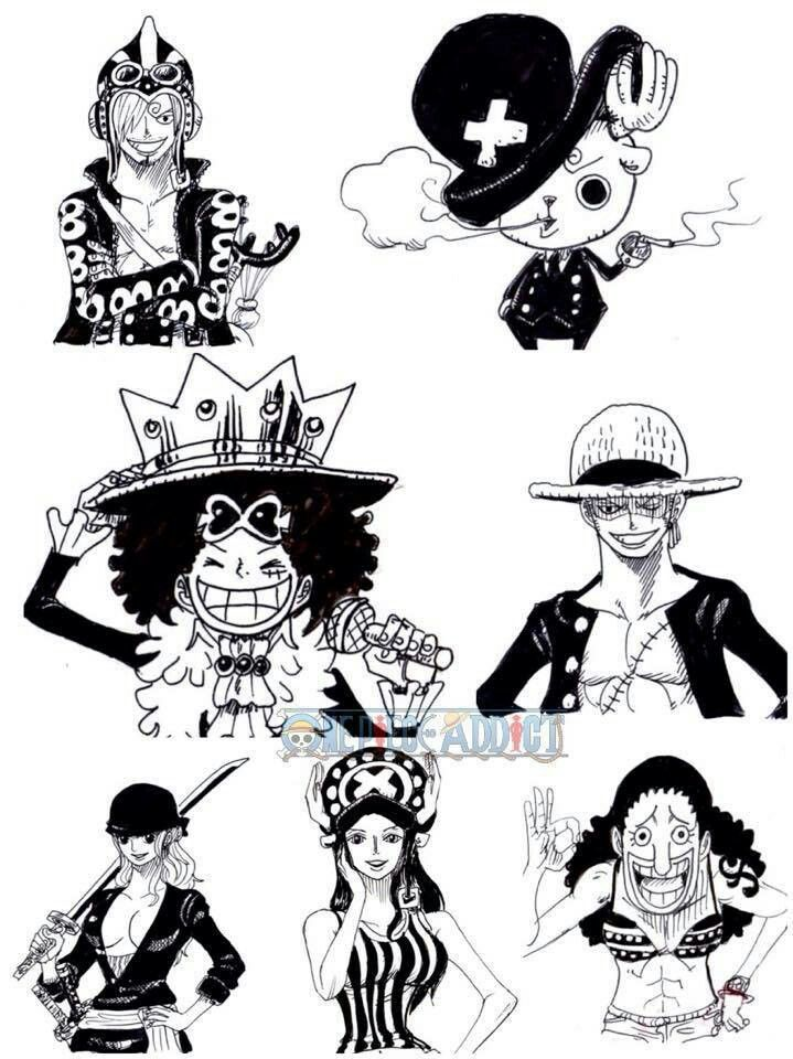 Luffy Sanji Zoro Chopper Usopp Nami Robin Switch Outfits
