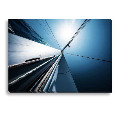 New Era Clear Blue Sailing Indoor/Outdoor Canvas Print - NE73312, Durable