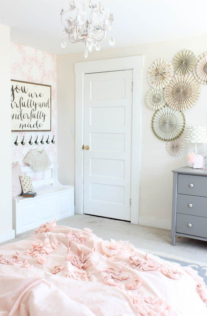 cool Vintage little Girls Room Reveal